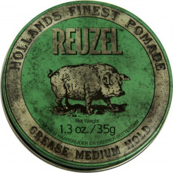 Green Medium Hold Grease Pomade 1.3oz