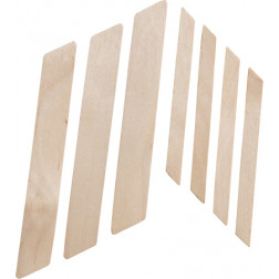 "4"" Wood Applicators with Slanted Tips"