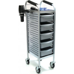 Compact Silver 5 Drawer Trolley #FTRLCG23SL