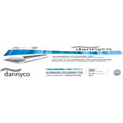"""Dannyco - Smooth Texture 5"""" x 12"""" Silver Pre-Cut Foil Sheets - Heavy"""