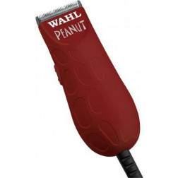 Wahl Professional - Red Peanut Mini Trimmer/Clipper with 4 Guides #56354