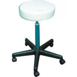 Dannyco - White Round Seat Stool For Estheticians