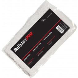 BaByliss Pro - Cotton White Towels - Bag of 12 #BESTOWEL3UCC