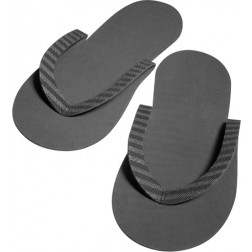 Black Eco-Friendly Slippers - 12 Pack