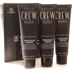 American Crew - Precision Blend Natural Gray Coverage 2-3 Dark 3x40 ml