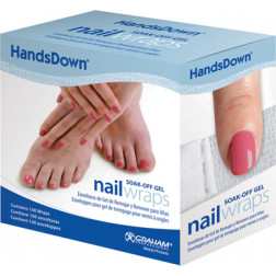 Graham Professional - Handsdown Soak-Off Gel Nail Wraps 100 Pack