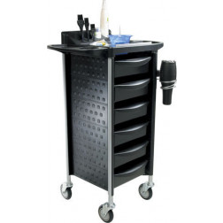 NP Group - 6 Drawer Colour Trolley #FTRLCG24BK