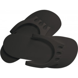 Dannyco - Eco-Friendly Pedicure Slippers with Toe Separators #PEDI-SLIP-BKC