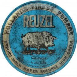 Reuzel - Blue Strong Hold High Sheen Pomade 4oz