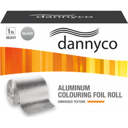 Dannyco - Aluminum Colouring Foil Roll 1lb Heavy Embossed-Texture 295ft #ROF1HVYNC