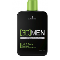 [3D]Men - Hair and Body Shampoo - 250ml