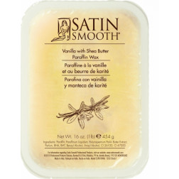 Satin Smooth - Vanilla with Shea Butter Paraffin Wax with Vitamin E