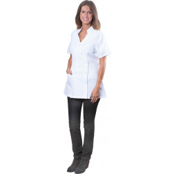 Le Pro - Stylish White Spa Jacket - Medium TECHJAKPKTMDC