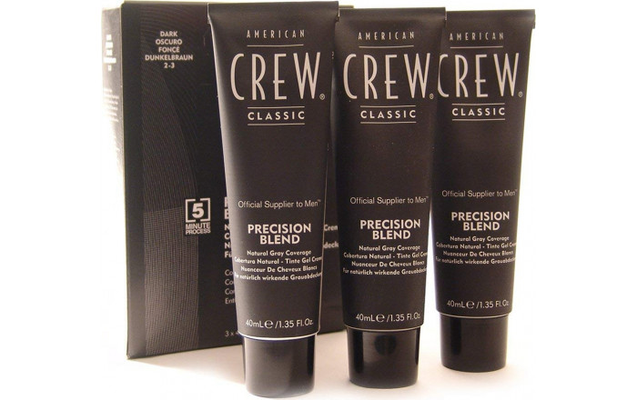 American Crew - Precision Blend Natural Gray Coverage 2-3 Dark Natural 3x40 ml
