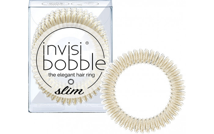 invisibobble SLIM - True Gold - Set of 3